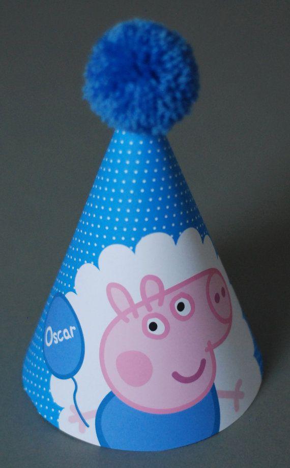 Personalised Childrens PEPPA Pig GEORGE Pig by OrangePaperDuck