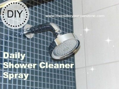 Make Your Own Daily Shower Cleaner Spray