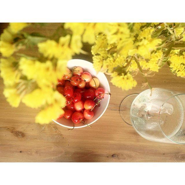 Cherry nights! Enjoy!  #7thought #boutiquecafe #shopandsip #cherry #wine #summer…