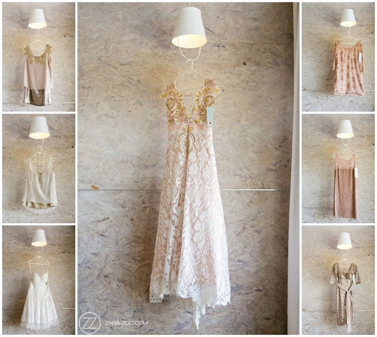 Bridesmaid dresses, designed by Alana van Heerden. Cream, blush pink and gold. Each bridesmaid had her own dress made specially for her.