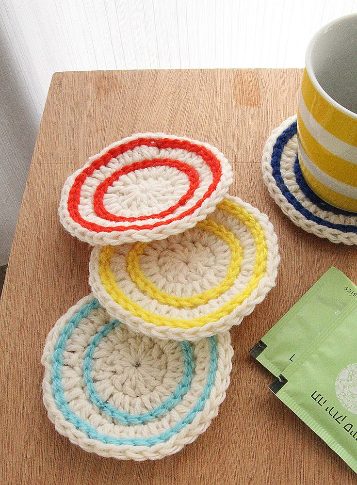 99 best images about Crochet Coasters & Coaster Baskets on ...