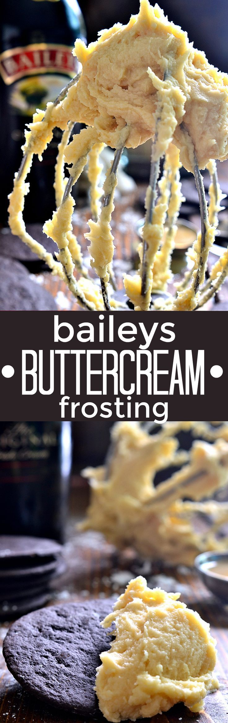 This Baileys Buttercream Frosting is EVERYTHING! Perfectly sweet, creamy, buttery, boozy, and delicious.....the perfect finishing  touch to all your favorite cookies and cakes!