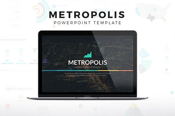 Metropolis Powerpoint Template by SlidePro on @creativemarket