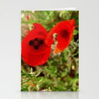 crazy poppies Stationery Cards
