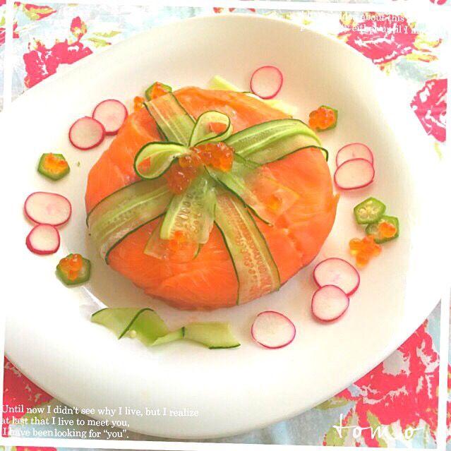 とも's dish photo yucca さんの料理 メリー  クリスマス  すし | http://snapdish.co #SnapDish #レシピ #簡単料理 #パーティー #お寿司