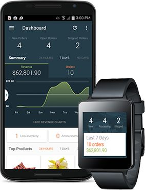 Android Wear Volusion App | Ecommerce Store Management