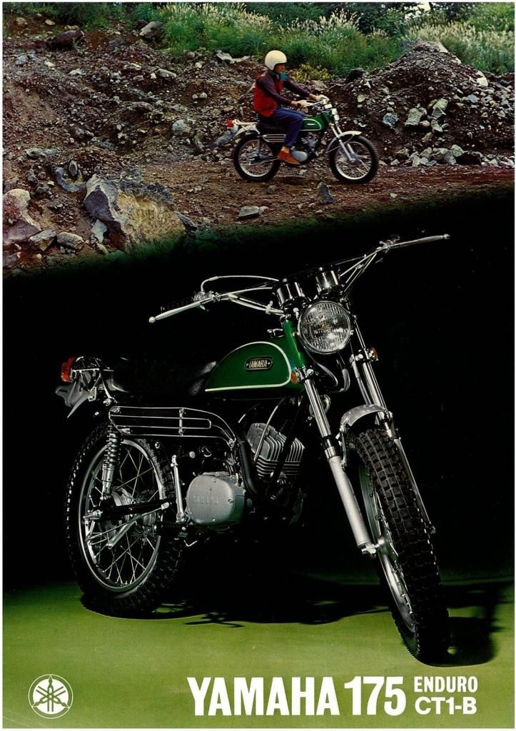 "Topic: ""Mean Green Machine"" 1970 Yamaha CT1B 175 (3/5) - Vintage Enduro Discussions - Vintage Yamaha Enduro Fans"