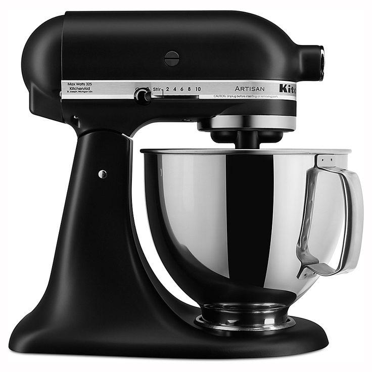 Kitchenaid artisan 5 qt stand mixer in matte black