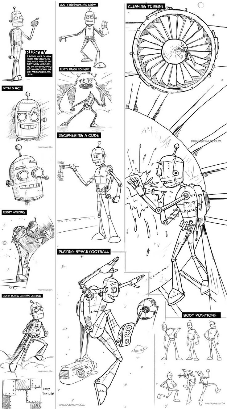 """August 2012: Sketches for """"Critter Space Adventures"""" story and game by Pablo Stanley 1"""