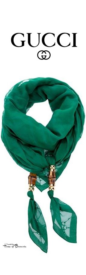 ~Gucci Cotton #Voile #Scarf   House of Beccaria http://www.lovelysilks.com