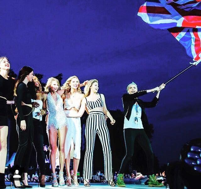 Martha Hunt, Karlie Kloss, Kendall Jenner, Serena Williams, Gigi Hadid and Cara Delevingne