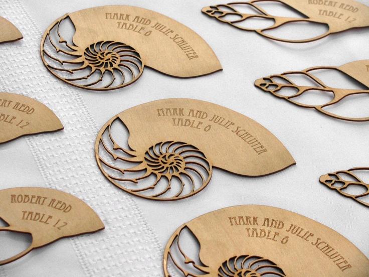 375 best letterpress images on pinterest business cards carte de beach wedding escort cards or place cards custom etched nautilus seashell cross section colourmoves