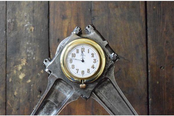 Spitfire Merlin Double Con Rod Desk Clock | Vinterior London  #vintage #rollsroyce #design