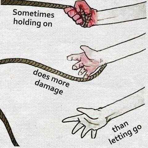 """Letting Go Sometimes holding on really does do more damage than letting go. To """"let"""" can be defined in several ways including: """"to allow something to happen or someone to do something by giving permission or by not doing anything to stop it from happening to cause something to happen or to be in a particular condition,…"""