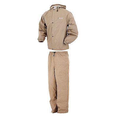 Jacket and Pants Sets 179981: Frogg Toggs Pl12140-04X Xxl Pro Lite Rain Suit Khaki - X Xxl -> BUY IT NOW ONLY: $39.99 on eBay!