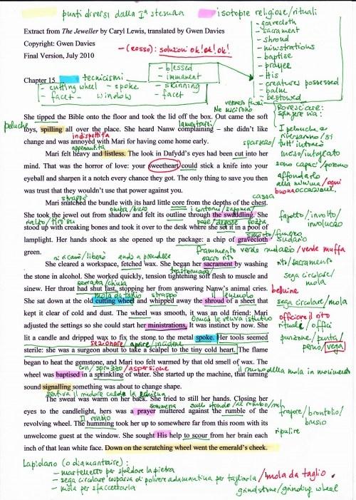 Il lavoro sul testo, © Leonardo Marcello Pignataro per Carter 2010 – 6a edizione