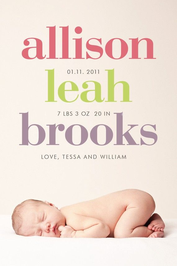 like this layout for a birth announcement: Births Announcements, Cute Baby, Cute Ideas, Baby Announcements, Birth Announcements, Announcements Ideas, Baby Girls, Custom Photo, Photo Births