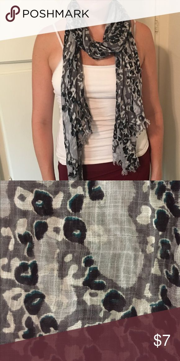 Armani Exchange print scarf Black/grey/green sheet scarf to dress up any outfit. A/X Armani Exchange Accessories Scarves & Wraps