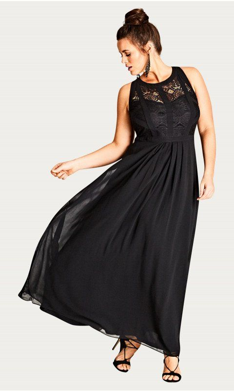 b128fb3c76 Shop Women s Plus Size Panelled Bodice Maxi Dress - Black