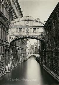 Le Pont des Soupirs (photo 1890)