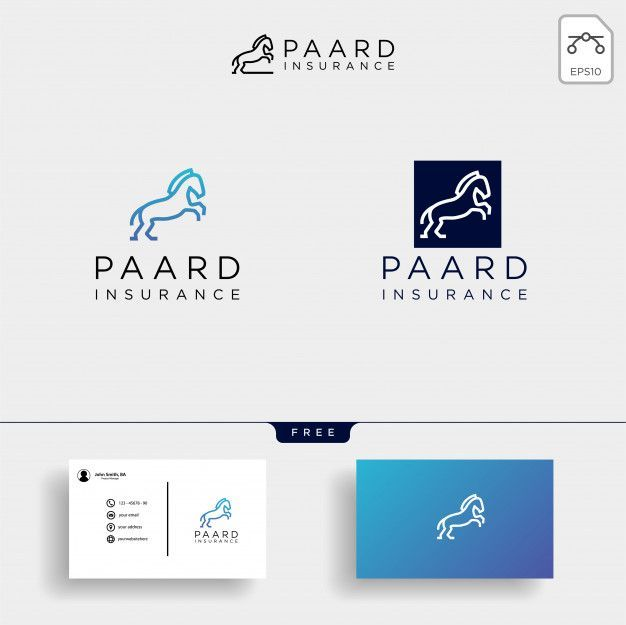 Insurance Logo Template Collection And Business Card Logo