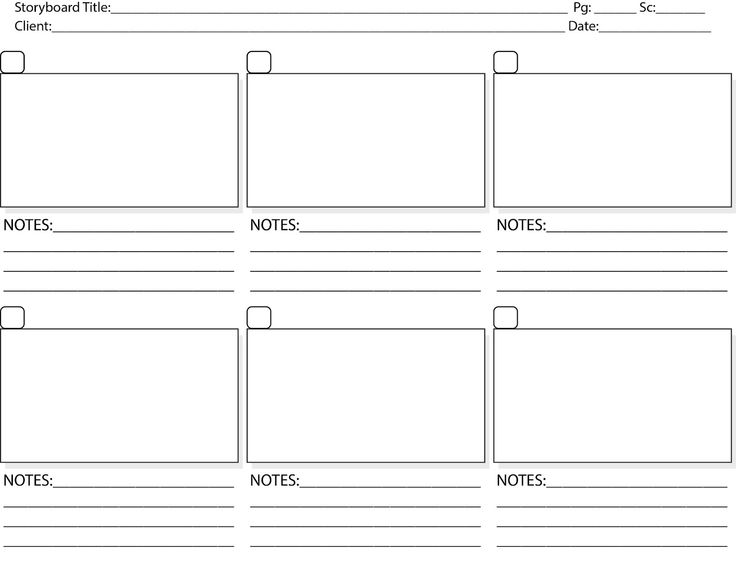 Storyboard Template Pdf Print Storyboard Tem | Staging & Window