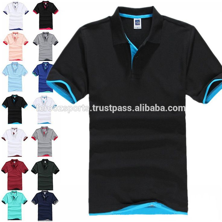 Custom Polo Shirt High Quality Mens Custom Embroidered or print logo t shirt polo