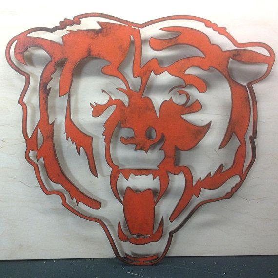 Chicago Bears 'Bear' Emblem NFL wall art by FunctionalSculpture