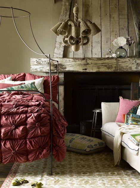 Canopy bed / rustic mantle