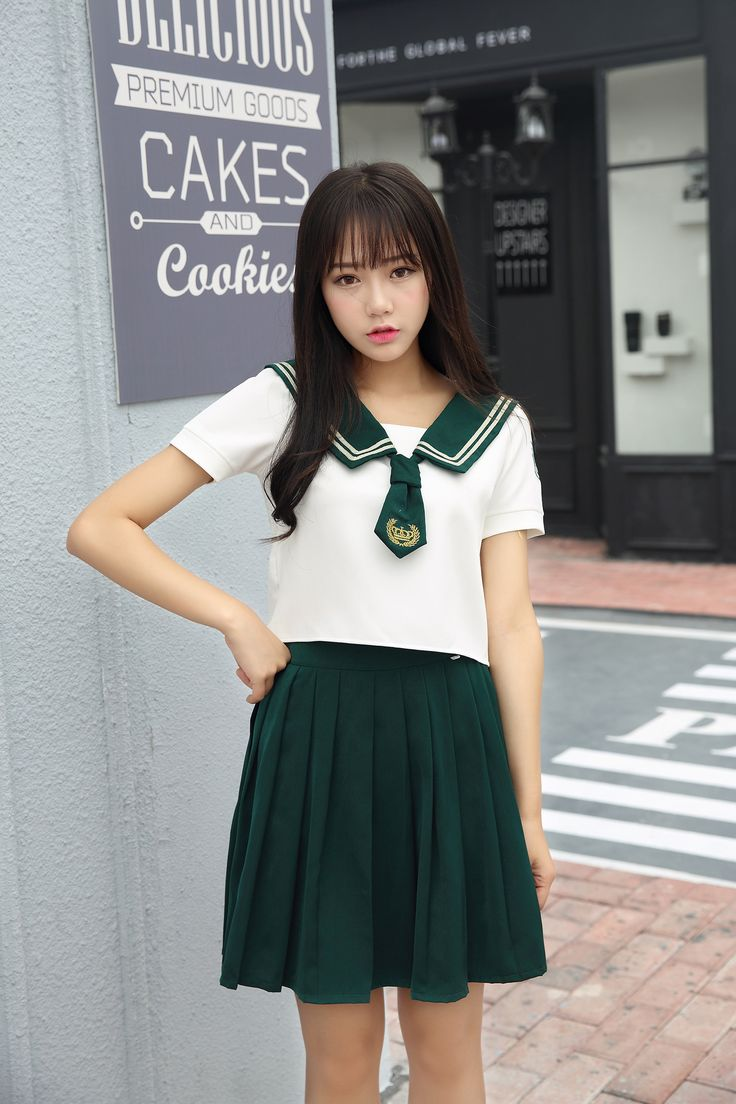 High Quality Girl Japanese Uniform Sailor School Uniform -9096