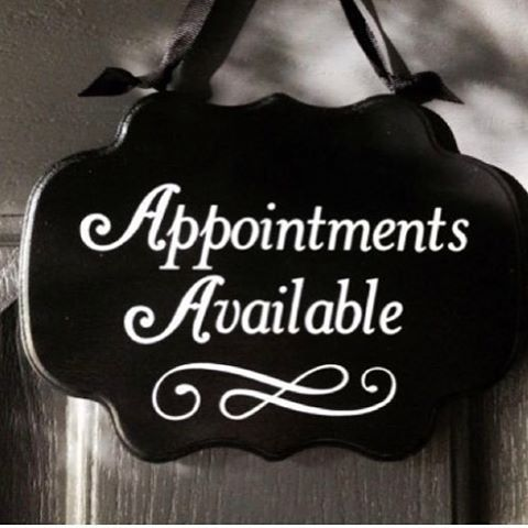 Appointments available for MAY/JUNE (For spray tans, root touch ups, haircuts & blowouts please ask for other times because I do have available times for those services)  Mon. 5/22 @ 11am Thurs. 5/25 @ 10am Fri. 5/26 @ 10:30am Wed 5/31 @ 11:15am, 3:30pm Thurs 6/1 @ 10am, 11am, 6:30pm Fri 6/2 @ 12:30pm Weds 6/14 @ 2pm, 4pm, 6:30pm Mon 6/19 @ 10am, 11am, 2pm  SPOTS WILL FILL QUICKLY !!!! •if you would like to be put on a cancelation list, please let me know• _____________________________ To…