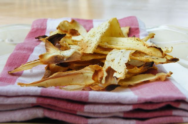 Tinned Tomatoes: Home-Baked Honey Parsnip Crisps