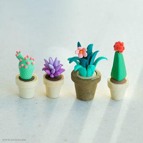 {JooJoo} - Polymer clay cactus