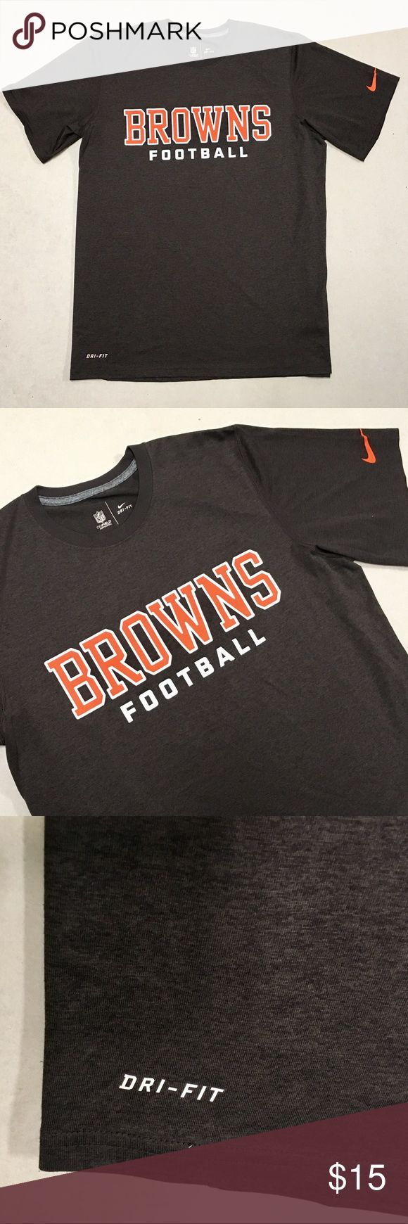 Cleveland Browns - Nike NFL Onfield Men's T-shirt Cleveland Browns Nike Dri-Fit NFL Onfield T-shirt   Size Men's Medium   New without tags!!  🏈🏈🏈 Nike Shirts Tees - Short Sleeve
