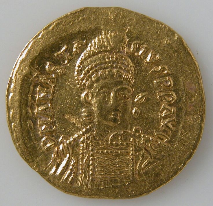 Solidus 491–518 Made in Constantinople