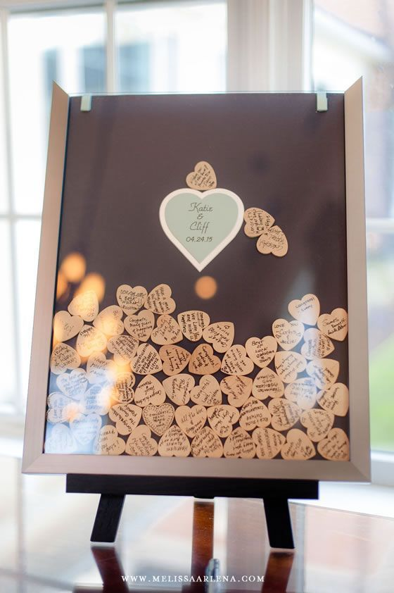Such a cute guest book alternative | Katie + Cliff at Belmont Country Club | Melissa Arlena Photography