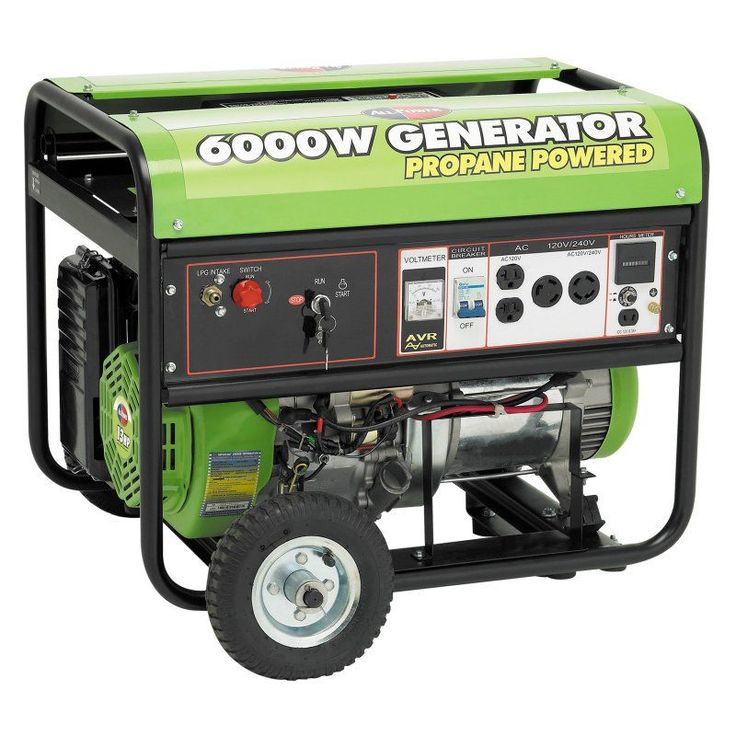 All Power 6000W 13 HP Propane Powered Generator with Electric Start & Mobility Kit - APG3560CN