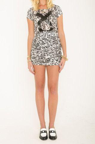Mardle - Shock Me mini skirt & Domino shell tee