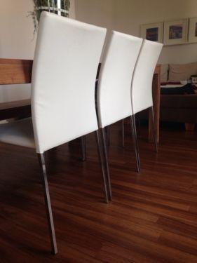 5 Weiße Esszimmerstühle! Unempfindlich Und Fast Unbenutzt! In Bielefeld    Mitte | Stühle Gebraucht