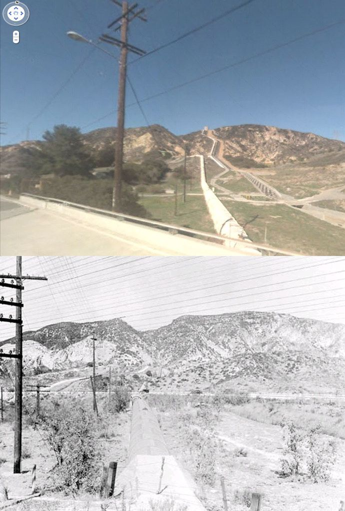 Looking North From Foothill Boulevard From A Point West Of Balboa Boulevard In Sylmar 1913 And Now San Fernando Valley Foothills Balboa