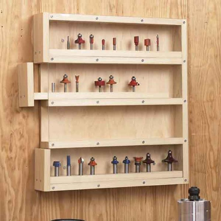 Easy Access Router Bit Organizer Woodworking Plan From