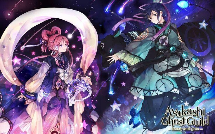 Ayakashi Ghost Guild - Orihime x Hikoboshi Wallpaper