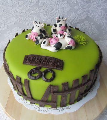 Purppurahelmen juhla- ja  fantasiakakut: lehmäkakku