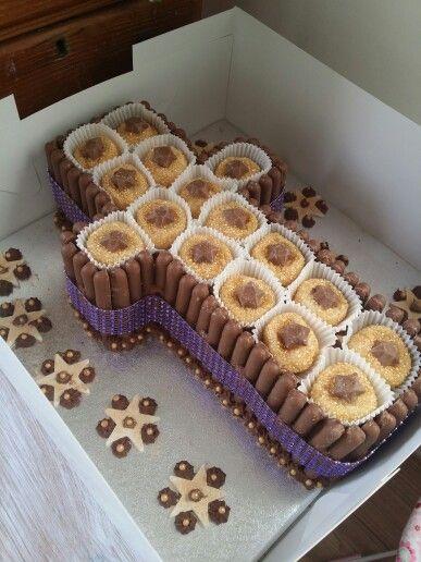 Cross cake ..Red inside