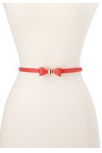 Coral Bow Skinny Belt