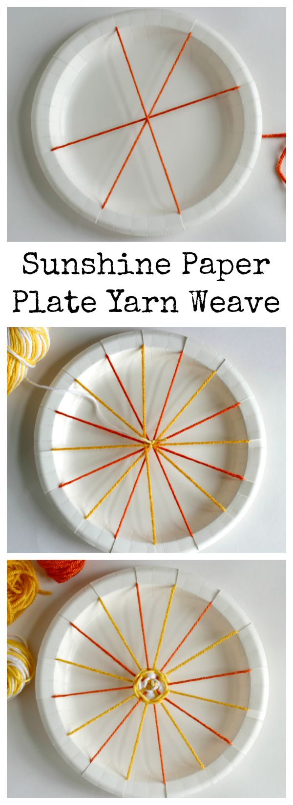 How To Sunshine Paper Plate Yarn Weave