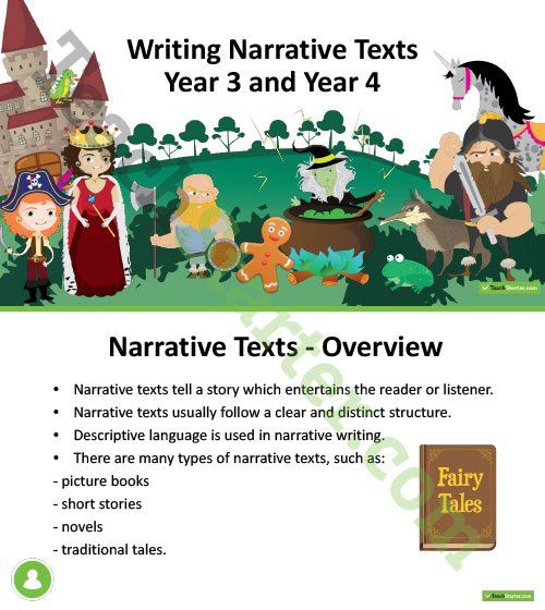 Writing Narrative Texts PowerPoint – Year 3 and Year 4 Teaching Resource