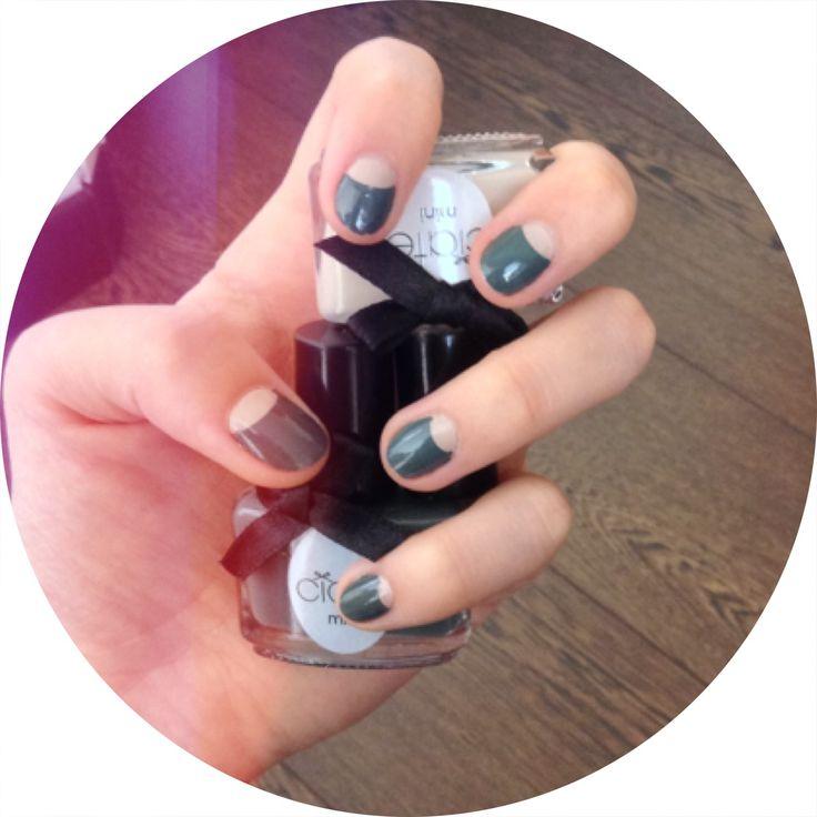 HalfMoon #nails #nailart http://do-love-lovedoign.blogspot.com/