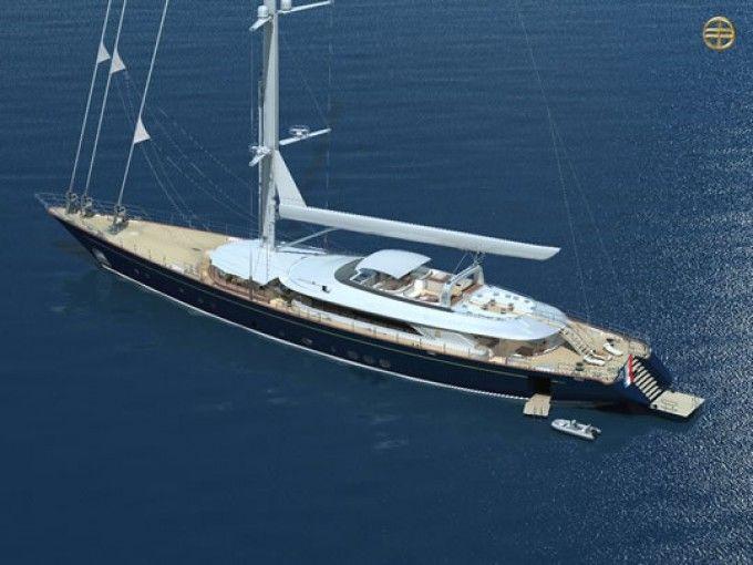 Yacht SALUTE - Image Courtesy PERINI NAVI Yachts-680