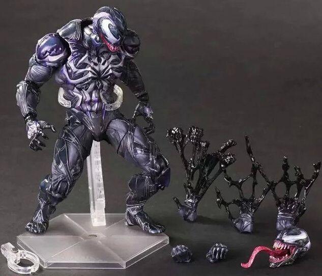 56.00$  Buy now - http://ali7gx.worldwells.pw/go.php?t=32704162705 - Spider Man Action Figure Venom Spider Collection Model PLAY ARTS spide man spier man Venom Play Arts Kai Venom 28D 56.00$
